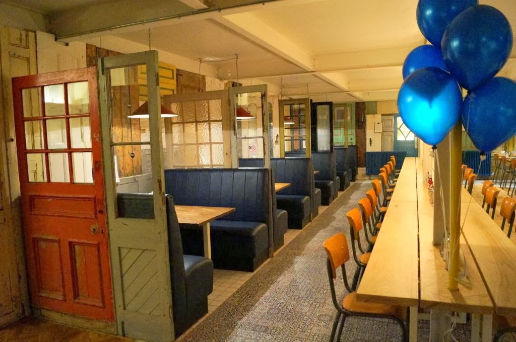 Little Booths Are Created Using Original Doors From The Reclamation Yard On  Gloucester Road, Some Of The Tables Are From An Old Secondary School And  The ...