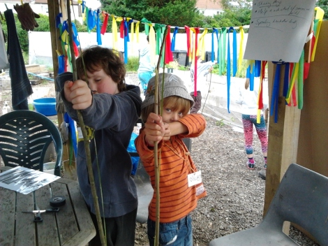 Golden summer of fun Bow and arrow